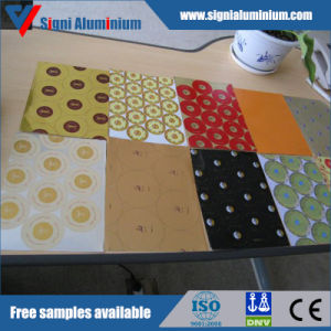 Printed Aluminum Sheet/Plate for Cosmetic Cap (8011, 3105 H14) pictures & photos
