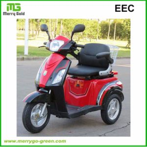 Comfortable Three Wheel Electric Handicapped Scooter for Disabled People pictures & photos
