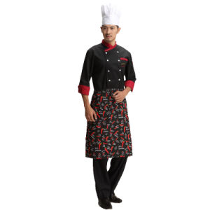 100% Cotton Unisex Restaurant Waiter Red Waist Apron with Pocket pictures & photos