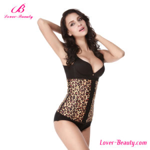Comfortable Smooth Leopard Postpartum Recovery Steel Boned Corset pictures & photos