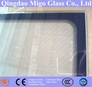 3.2mm 4.0mm Tempered Solar Collector Glass with Black Dots Frame pictures & photos