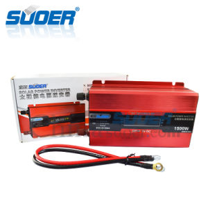 Suoer 1500W 12V to 220V Intelligent Solar Power Inverter with LCD Display (SDB-D1500A) pictures & photos