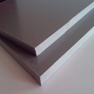High Density Waterproof Glossy Surface Grey Plastic PVC Rigid Sheet pictures & photos