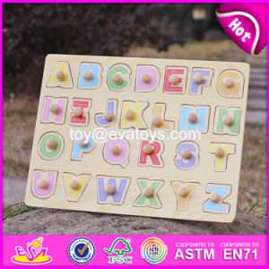 Top Fashion Educational Toddlers Wooden Alphabet Puzzle W14m101 pictures & photos
