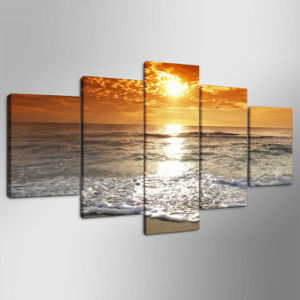 HD Printed Seascape Group Painting Canvas Print Room Decor Print Poster Picture Canvas Ym-007 pictures & photos
