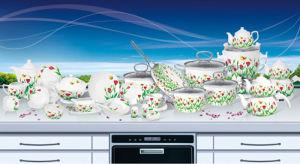 Cookware Set And Dinner Set (HWK90097)