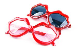 Red Lip Sexy Party Glasses Frame Sunglasses (DJ265B28)