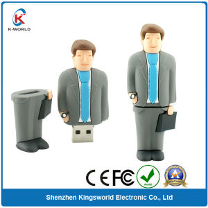 Custom PVC People USB Flash Memory (KW-0241)