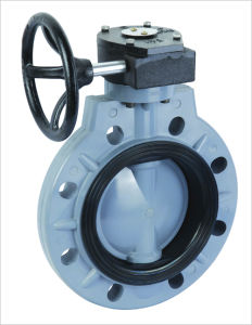 Worm Gear Butterfly Valve (D371X-6S) ,Wafer Butterfly Valve pictures & photos