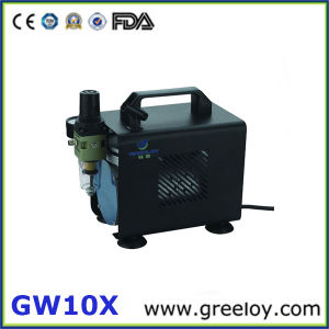Mini Air Compressor with Airbrush Holder (GW10X)