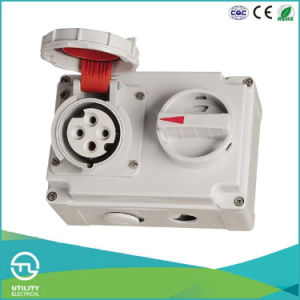 16A Waterproofing Female Socket with Switch and Mechanical Interlock pictures & photos