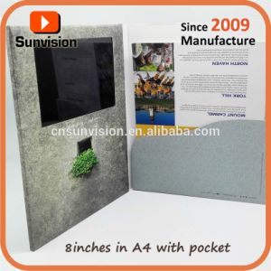 """10.1"""" LCD Advertising Brochure Video Card with Pocket pictures & photos"""
