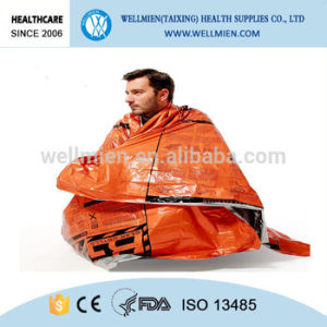 Thermal Reflective Survival Emergency Sleeping Bag for Camping pictures & photos