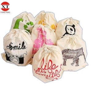 Hot Sell Double Drawstring Cotton Bags (FLYFB0023) pictures & photos