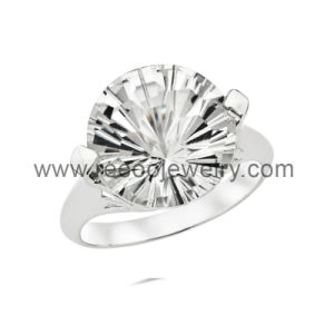 925 Silver Ring, Rhinestone CZ Ring Jewelry
