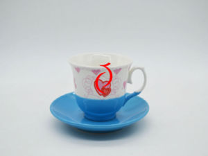White Porcelain Coffee Cup and Saucer pictures & photos