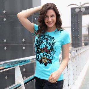 Ladies Fashion Print T-Shirt (AC001)