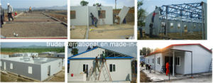 Steel Frame Prefab/Prefabricated/Modular House with Color Steel Sandwich Panel pictures & photos