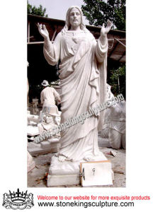 White Marble Jesus Sculpture (SK-2457) pictures & photos