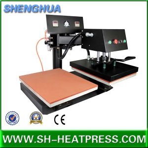 Double Stations Pniumatic Swing Head Heat Press Machine for Sale pictures & photos