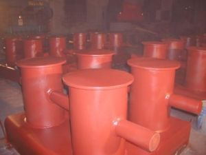Marine Deck Equipment Fabricated Double Bitts 12in