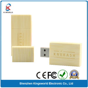 Gift Bamboo USB Flash Drive with Carving Logo