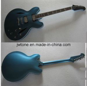 Diamond Shape Hole Hollow Body Electric Guitar pictures & photos