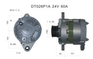 24V 60A Alternator for Nikko Komatsu Lester 11960 Dt026p1a pictures & photos