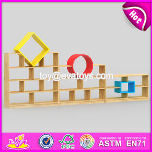 Best Design Combination Colorful Bedroom Furniture Wooden Kids Storage Shelves W08c198 pictures & photos