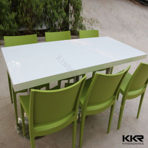 Dining Furniture Rectangular Solid Surface Dinner Table Chair pictures & photos