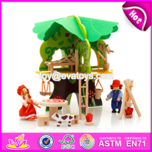 New Design Children DIY Wooden Tree Treehouse Toys W03b057 pictures & photos