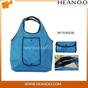 Wholesale Cheap 210t Custom Reusable Polyester Folding Shopping Vest Bag pictures & photos