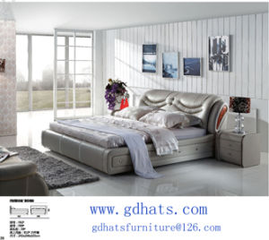 Bed, Soft Bed, Leather Bed, Sofa Bed, Bedding (F82#)
