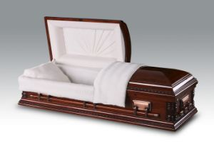 Luxes American Poplar Wood Casket for Funeral