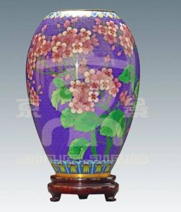 Cloisonne Vase with Flowers (06A410801)