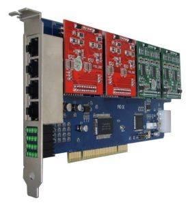 100% +CE+FCC 12 Port Fxs/Fxo Analog Asterisk PCI Card 1200p (compatiable to Linux) pictures & photos