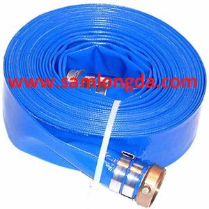 PVC Layflat Water Discharge Hose with Coupling pictures & photos