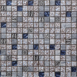 Mediterranean Style Ceramic Mosaic with Slate and Glass Mosaic Suitable for Living Room and Drawing Room