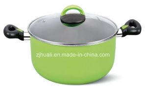 24cm Green Aluminum Non-Stick Casserole