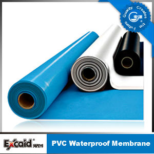 Anti UV Blue/ White PVC Waterproof Membrane for Roof/Basement/Pool/Pond (ISO) pictures & photos
