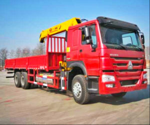 8-12 tons HOWO mounted crane lorry truck pictures & photos