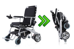 E-Throne 8′′, 10′′, 12′′ Lightweight Brushless Folding Power Wheelchair with LiFePO4 Battery pictures & photos