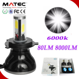 Plug and Play Long Working Life 12V 24V 80W 8000lm Colorful Bulb LED Headlight H1 pictures & photos
