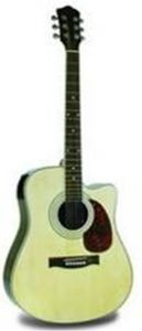 """41"""" Acoustic Guitar with ABS Color Stripes & Gold Imitation Enclosed Guitar Tuning Keys ((TLFB41A-10C))"""
