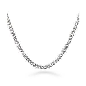 3mm Stainless Steel Curb Link Chain Necklace pictures & photos