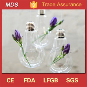 Elegant Clear Terrarium Hanging Light Bulb Shaped Glass Vase pictures & photos