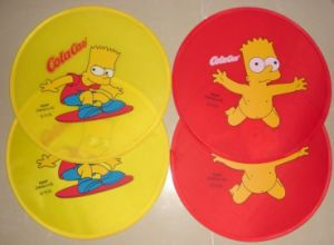 Custom Promotional Flexible Nylon Frisbee with Logo Print (3488) pictures & photos