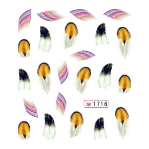 Manufactory Fashion Colorful Feather Nail Art Water Transfer Sticker pictures & photos