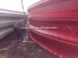 Frameless Colored Steel Arc Shape Building Machine for Romania pictures & photos