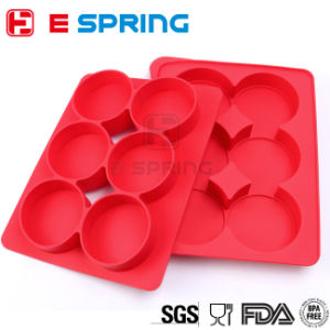 6 Cavity Silicone Meat Patty Maker Burger Press Bakeware pictures & photos